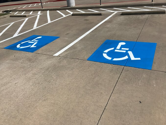 Handicap stenciling and parking lot striping North Charleston, South Carolina