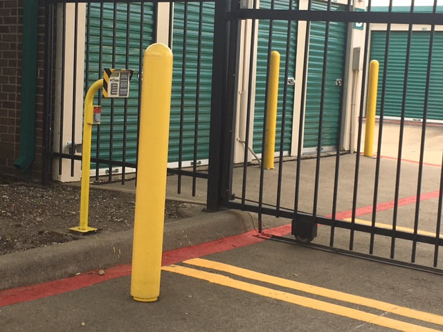 parking lot striping and bollards